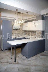 Кухонный набор изготовлен по эксклюзивному проекту на заказ.